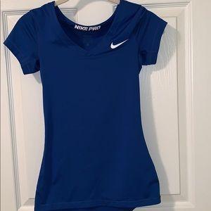 NIKE Pro Royal Blue Dri-fit Shirt